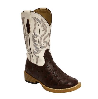 Roper Kids' Faux Ostrich Cowboy Boot