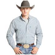Rock & Roll Cowboy Mens Peacock Long Sleeve Plaid Shirt