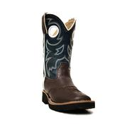 Roper Kids' Dark Brown Faux Leather Cowboy Boots