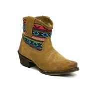 Roper Beccy Bright Suede Tan Short Girl's Boot