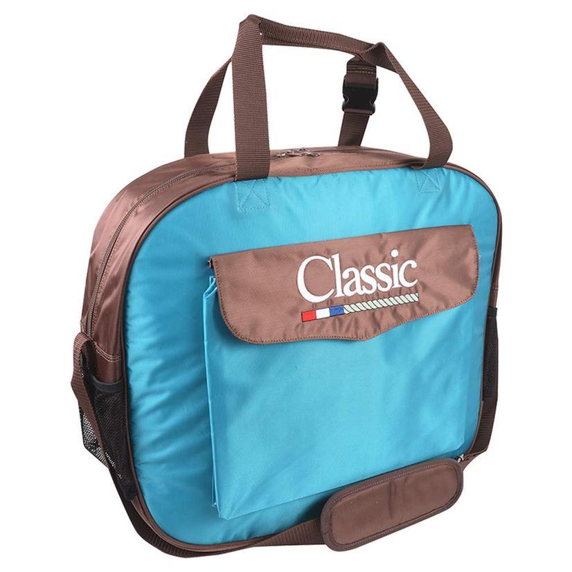 Classic Basic Rope Bag TEAL/CHOCOLATE