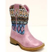 Roper Infant Girls Aztec Metallic Pink Glitter Boot