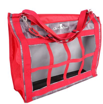 Classic Equine Top Load Hay Bag CHECK/RED