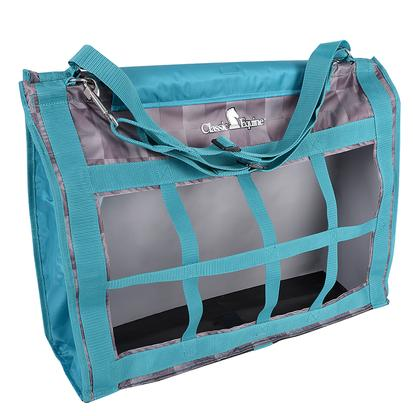 Classic Equine Top Load Hay Bag CHECK/TEAL