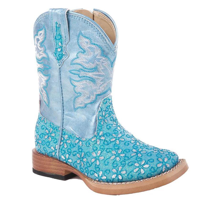 Roper Toddler Floral Glitter Boots