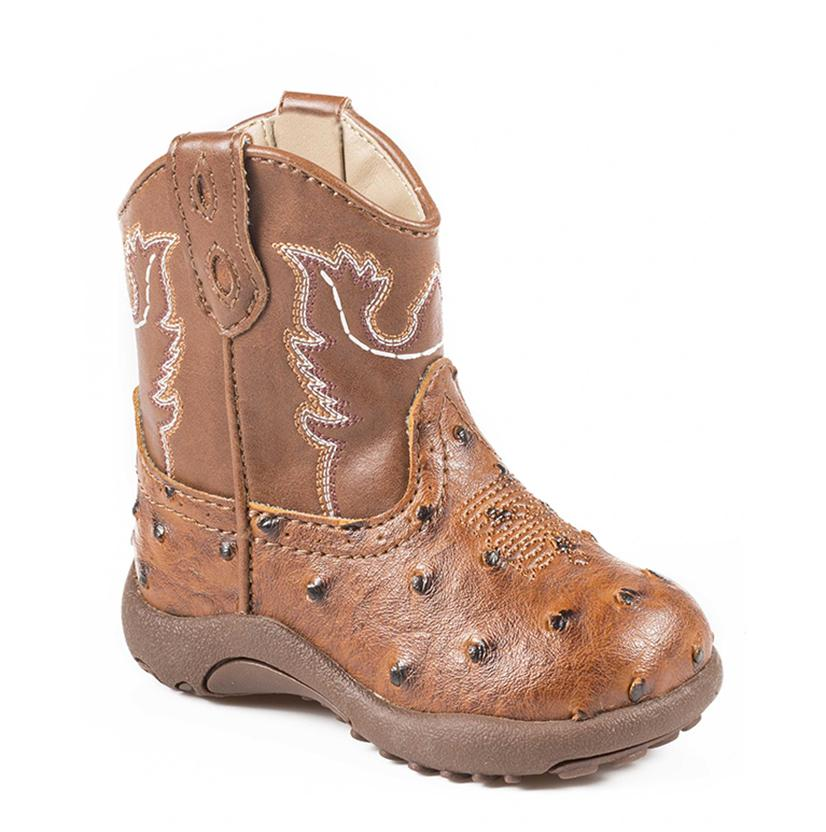 Roper Tan Ostrich Infant Boots