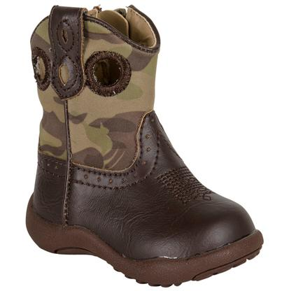 Roper Camo Cowbaby Brown Boots