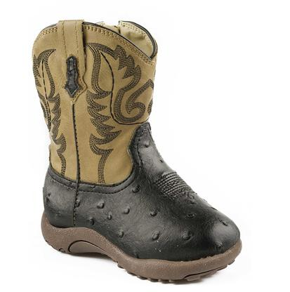 Roper Infant's Tan and Black Cowboy Boot