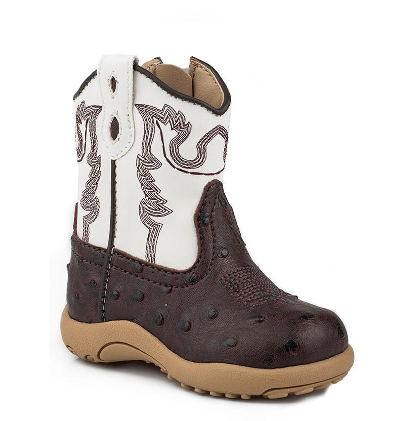 Roper Infant's Faux Ostrich Cowboy Boot