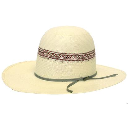 Resistol 20X Red River Long Oval Ivory & Red Straw Hat