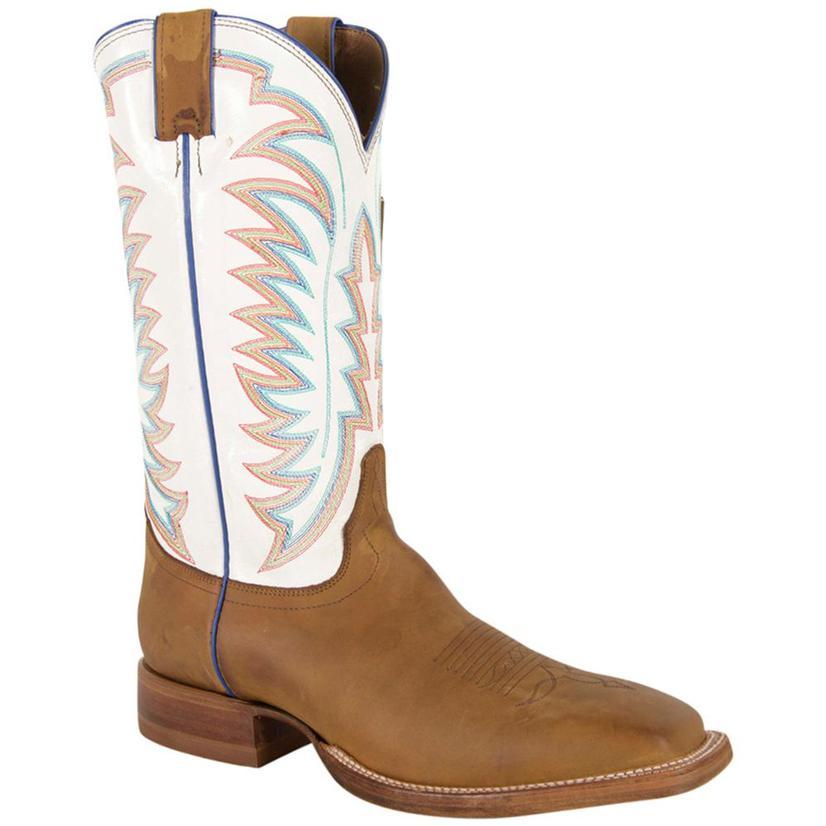 Justin Mens Golden Brown Tack Boots