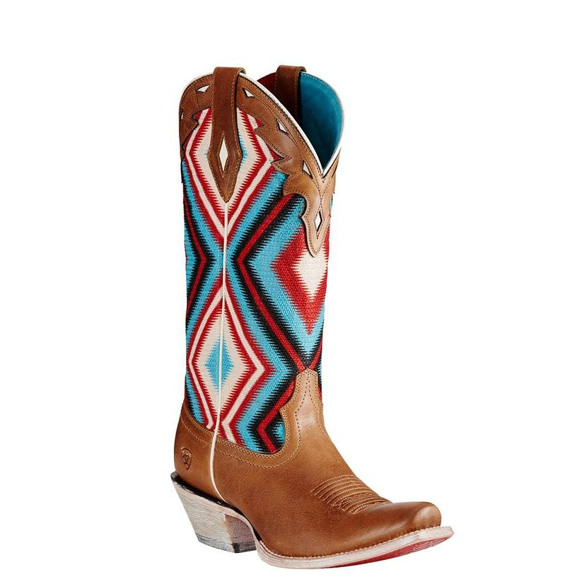 Ariat Women ' S Circuit Cheyenne Textile Tan Cowgirl Boots