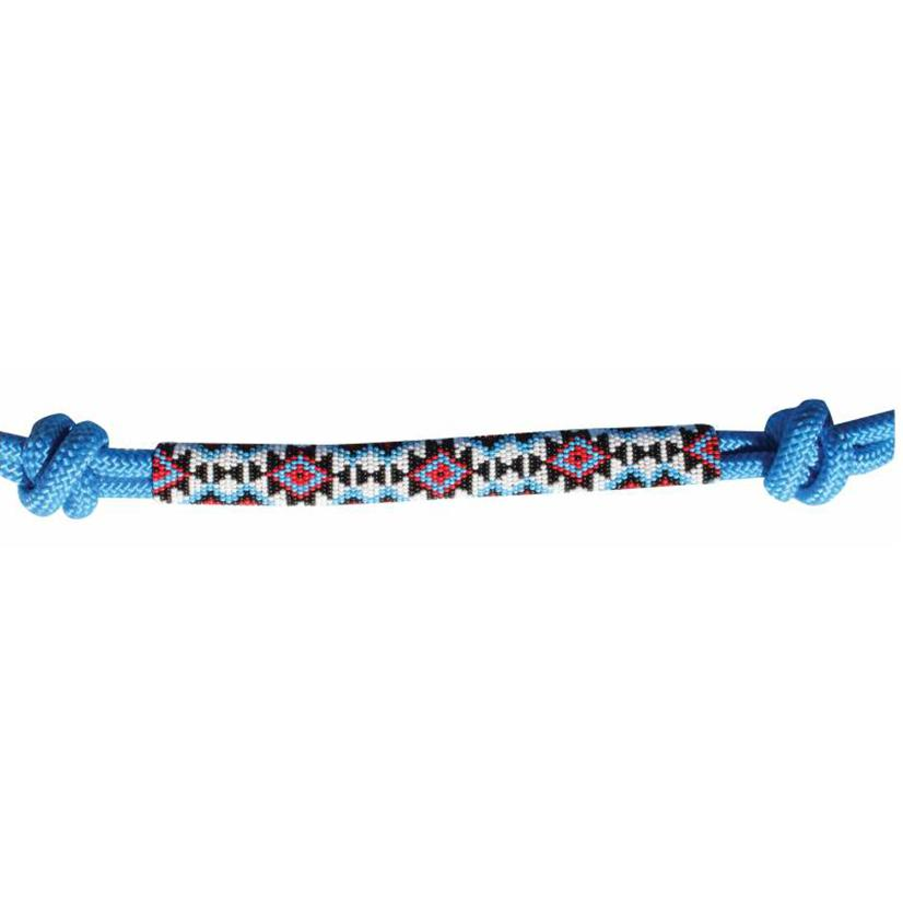 Professional's Choice Beaded Rope Halter TURQUOISE