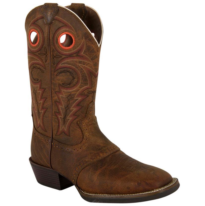 Justin Mens Silver Saddle Vamp Cowboy Boot