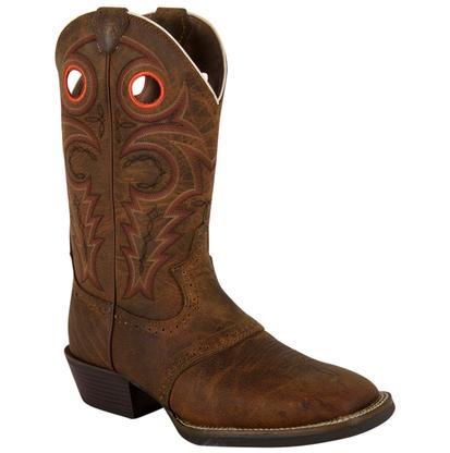 Justin Men's Silver Saddle Vamp Cowboy Boot