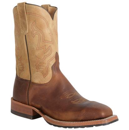 Anderson Bean Men's Briar Oil Tan Sensation Top Double Welt Square Toe Western Boots