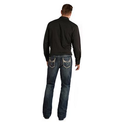 Rock & Roll Cowboy Denim Men's Double Barrel Relaxed Boot Cut Jeans