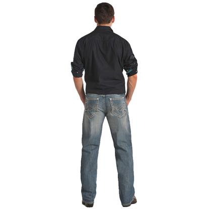 Rock & Roll Cowboy Mens Cannon Light Vintage Wash Jeans