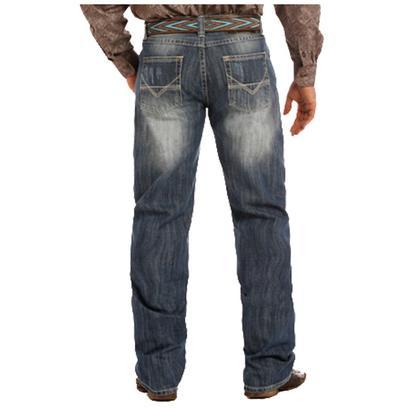 Rock & Roll Cowboy Mens Medium Wash Competition Fit Jean