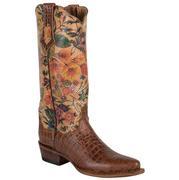 Ferrini Women's Vintage Floral Design Gator Print Boots