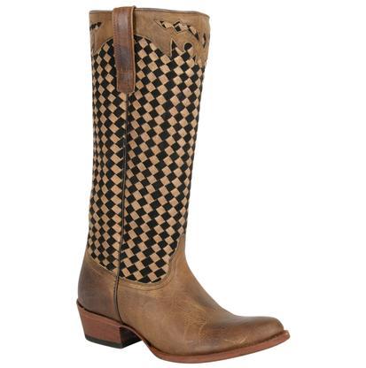 Macie Bean Womens Jackson Basket Weave Western Boots