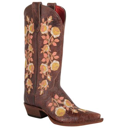Macie Bean Womens Sweet Sixteen Texas Yellow Rose Boots