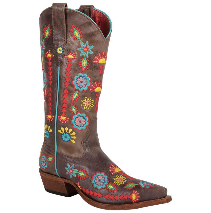 Macie Bean Womens Jambalaya Jesse Snip Toe Western Boots
