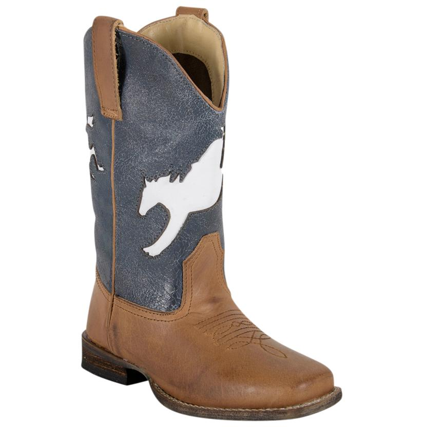 Roper Kid Western Leather Boots