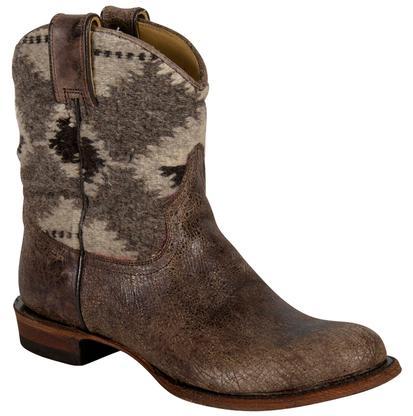 Stetson Sandia Aztec Western Shorty Boots