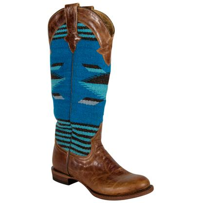 Stetson Serape Tan Blue Ladies Boots