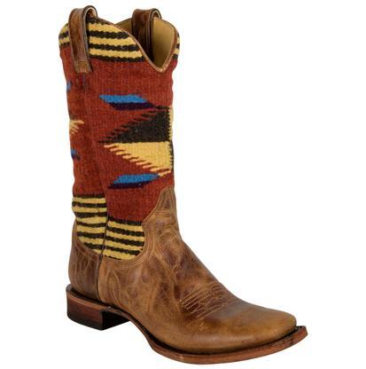 Stetson Roxanne Serape Chocolate Western Boot