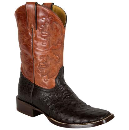 Stetson Square Toe Leather Brown Western Boots