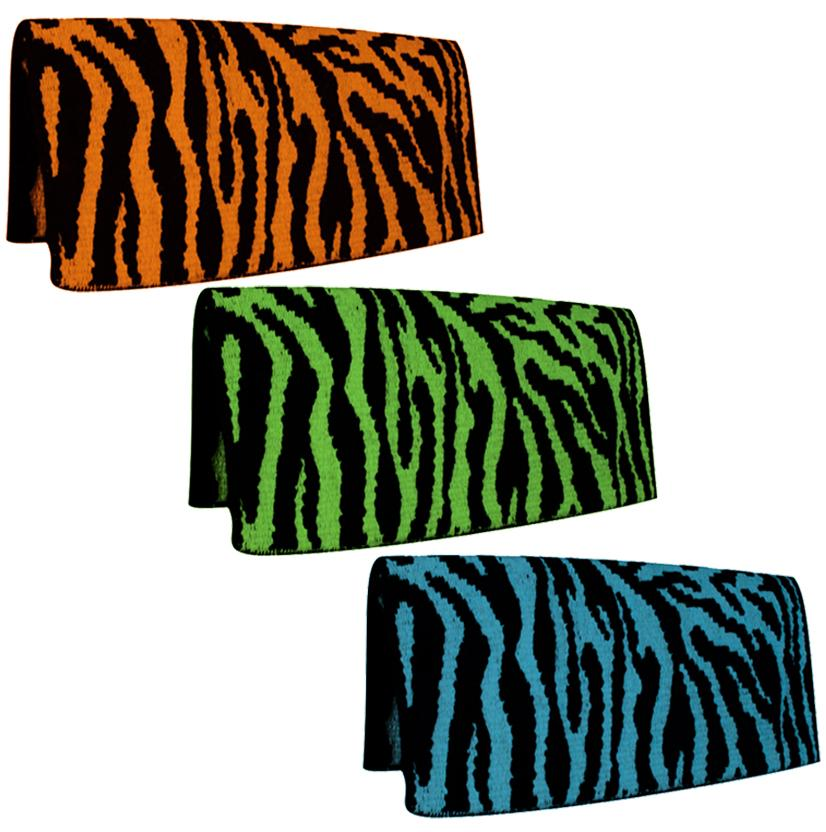 Mustang Zebra Saddle Blanket