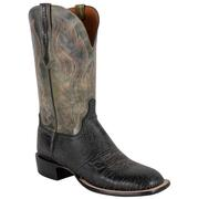 Lucchese Men's Black Bison Boots