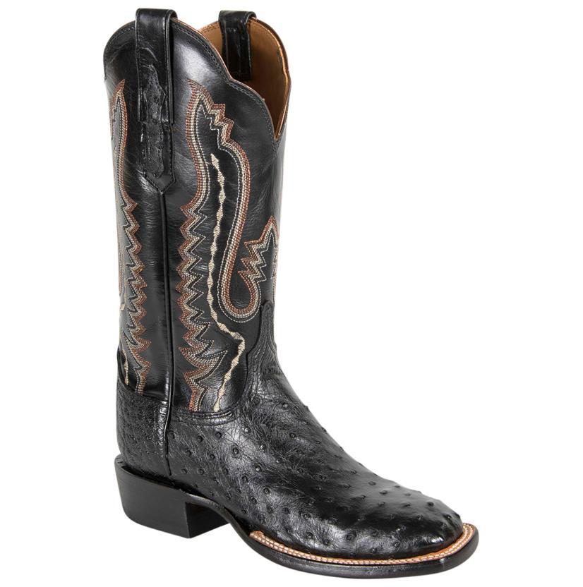 Lucchese Bk Pin/Bk Buff Boots