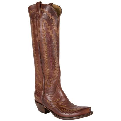 Lucchese Womens Handcrafted Tan Ranch Cowboy Boots