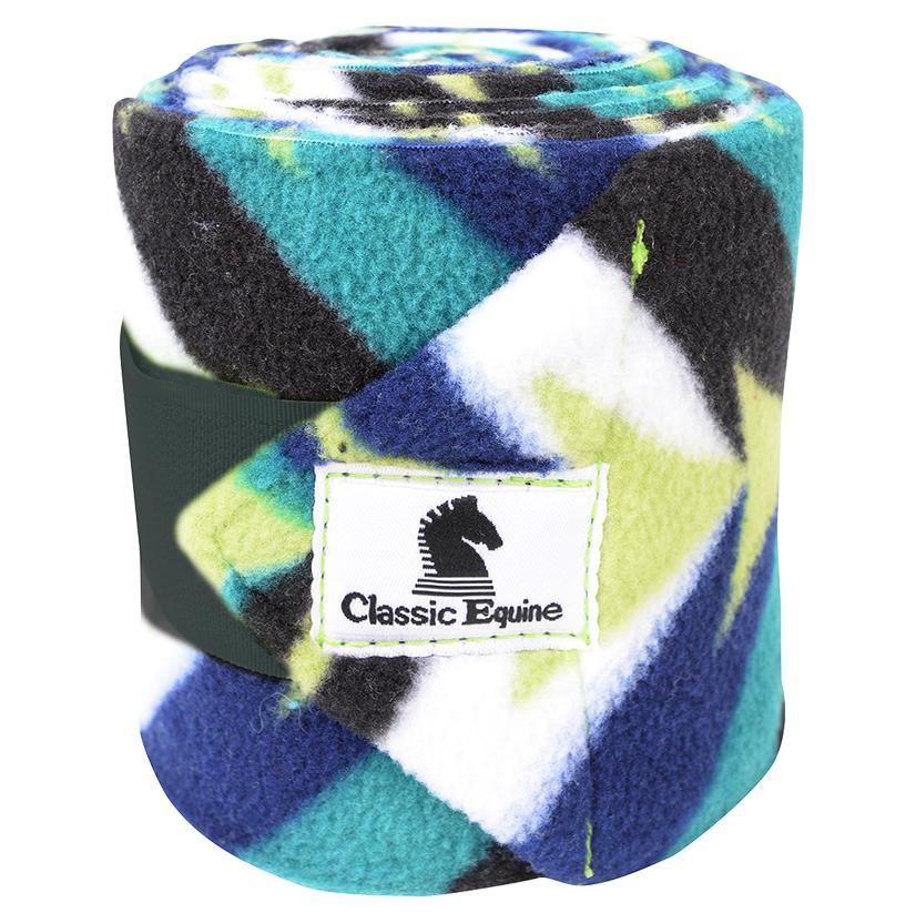Classic Equine Printed Polo Wraps LIME_TWIST