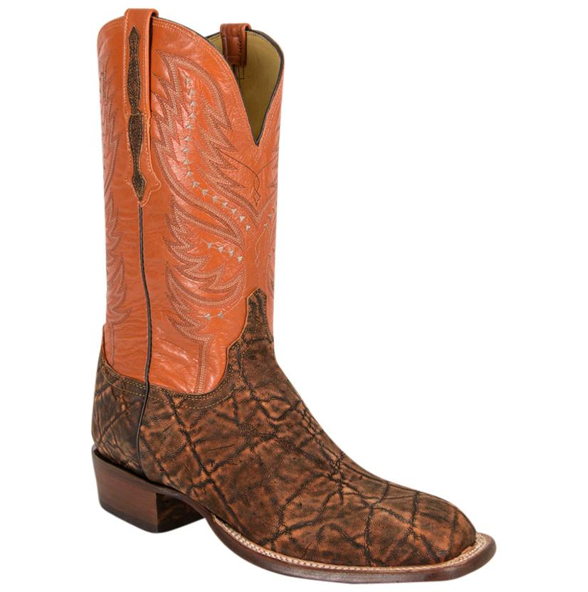 Lucchese Men's Elephant & Goat Leather Western Horseman Cowboy Boots