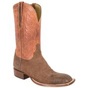 Lucchese Brown Amazon Sheepskin Leather Cowboy Boots