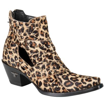 Lane Womens Studs & Straps Cheetah Cowgirl Boots