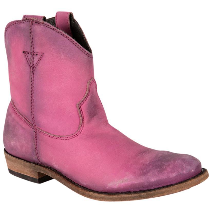 Liberty Black Vegas Round Toe Cowgirl Boots - Lipstick