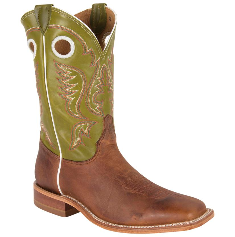 Justin Mens Bent Rail Square Toe Cowboy Boot