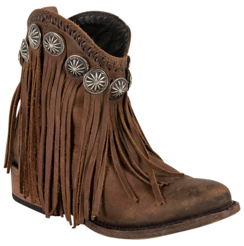 Liberty Black Vegas T- Moro Ankle Fringe Boots