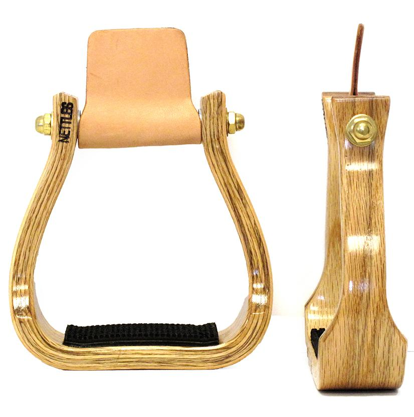 Varnished Barrel Racing Stirrup 2 Inch