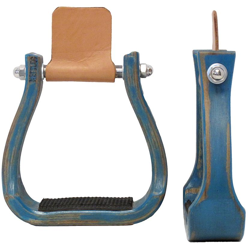 Turquoise Barrel Racing Stirrup 2 Inch