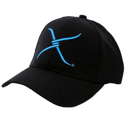Twisted X Flex Fit Cap Black with Blue Embroidery