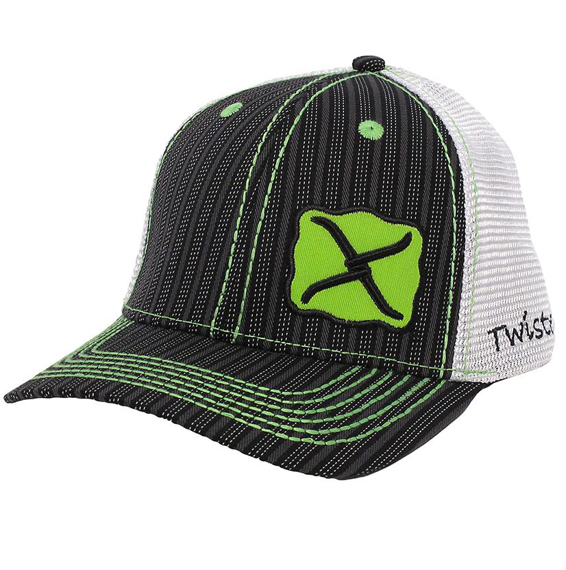 Twisted X Snap Back Cap With Double Pin Stripe