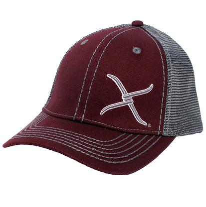 Twisted X Snap Back Cap Burgundy and Grey