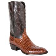 Lucchese Caiman Belly Sienna Western Boots