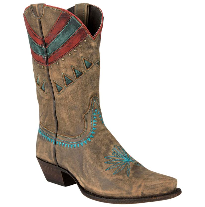 Caborca Vintage Bovine Leather Embroidered Boots